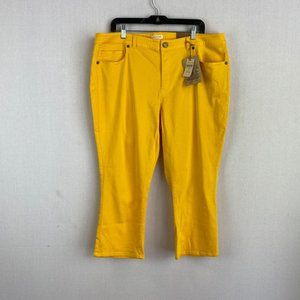 COLDWATER CREEK Cropped Yellow Jeans NWT